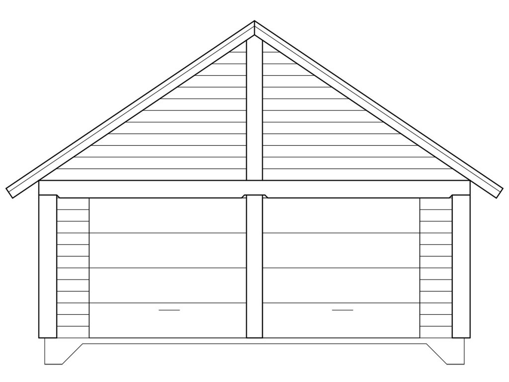 Log-Garage-Front-Elevation
